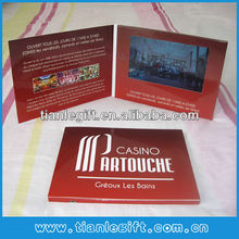 A5 4.3 inch lcd audio video greeting cards