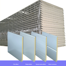 China supplier Metal Panel Material and PIR Sandwich Panels Type Pre Insulated Duct Sheet Panel