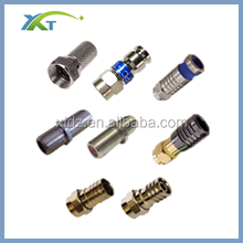 CATV 75ohm waterproof RG 6 RG11 Coaxial Cable F Crimp Type connectors