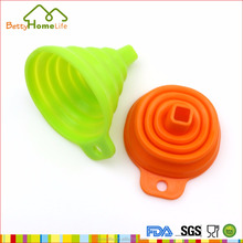 Silicone folding kitchen threaded funnel