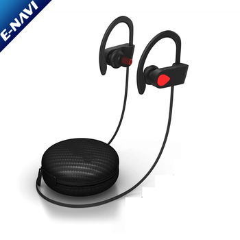 Wireless Sports Earphones Mic IPX7 Waterproof HD Stereo Sweatproof Earbuds for Gym Running Noise Cancelling Headsets