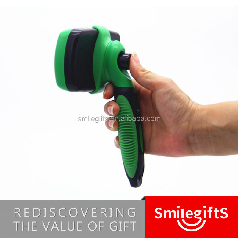 Pet Grooming Tool Self Cleaning Slicker Retractable Pet Dog Hair Brush