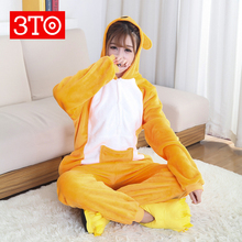 Factory price cartoon style winter onesie pajamas