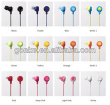 smile cartoon earphones with microphone for laptop