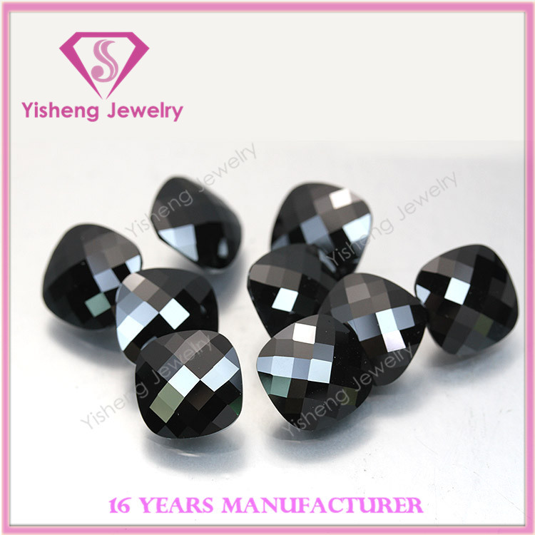 cushion shape checker cut cubic zirconia gems by China manufacturer