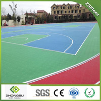 ZSFloor Removable Outdoor Interlocking floor for Sports Basketball Court