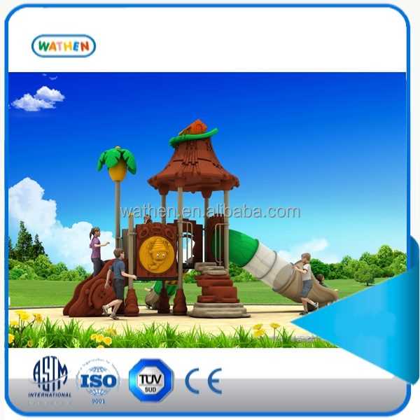 2015 new style children/kids outdoor playground with attractive tunnel slide