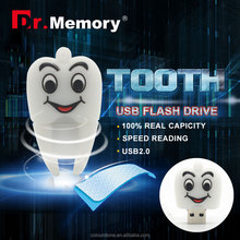 Dr.memory white tooth usb flash drive 4GB 8GB 16GB 32GB 64GB Cute pen drive pendrive U disk lovely creative personality usb 2.0