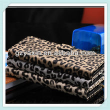 High quality stand leopard wallet phone case for samsung note3 n9000