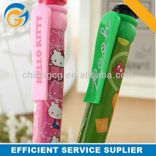 2013 Pink Cat Cartoon Stylus Clip 4 In 1 Plastic Ball Pen