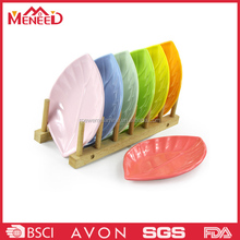 Food grade leaf shaped plate dinner ,cold and hot serving plate