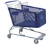 180L wholesale plastic basket shopping cart with baby seat