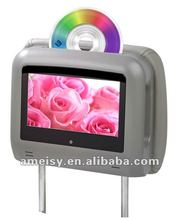 Hot sale 7 Inch Car Headrest Combo TV DVD Monitor with Touch Button IR Speaker