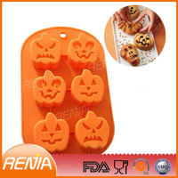 silicone big leaves shape mold pan pumpkin Silicone cake mould