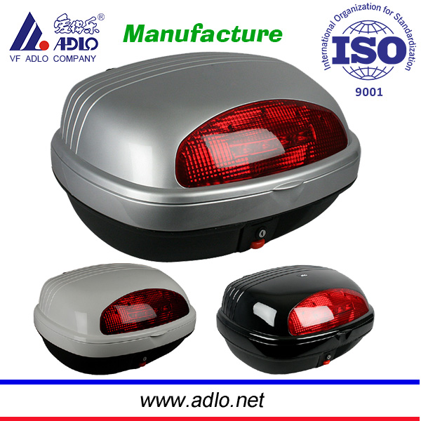 Adlo Hot sell motorcycle tail box/motorcycle rear box top case with large volume 44L