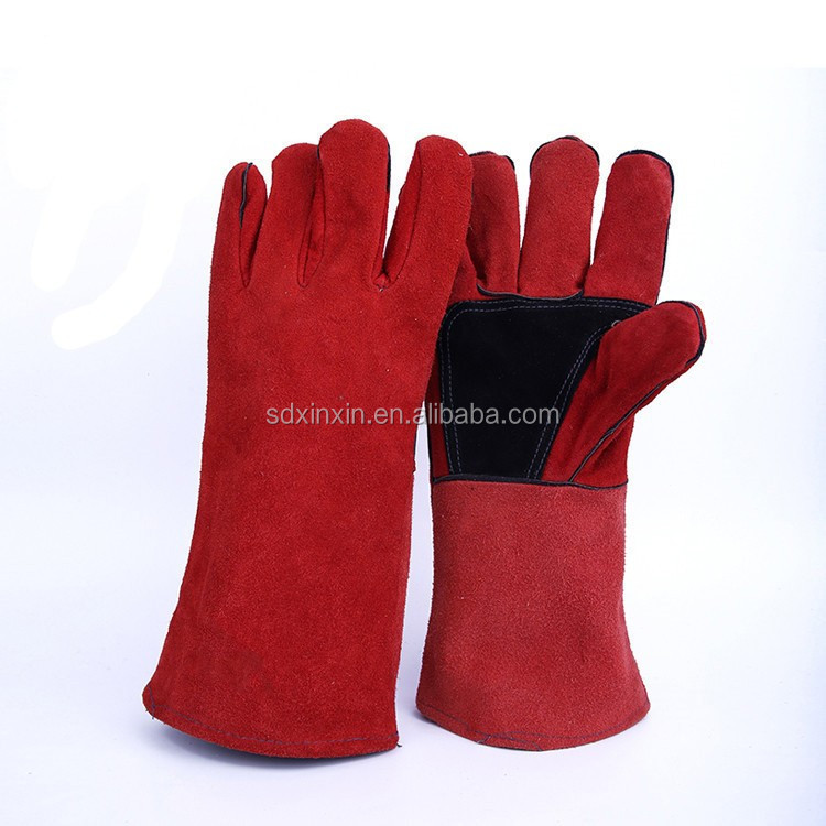 *Wear resistance and heat resistance Welding Protection Working Gloves/Leather Heat Protection Gloves *