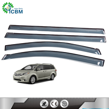 Best quality fashion side window deflectors brand name accessories car windows and roof visor for SIENNA 11-15