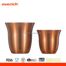 160ml new design double wall stainless steel vacuum insulated metal coffee cup wall art