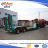 China utility low bed semi truck trailer with hydraulic ramp