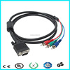 Cheap price hd 15 pin vga to 3 rca vga cables
