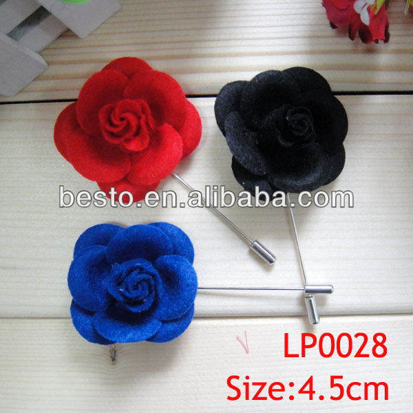 LP 0028 men's suit new design custom decorative crafts real look velvet small fabric lapel flower pin