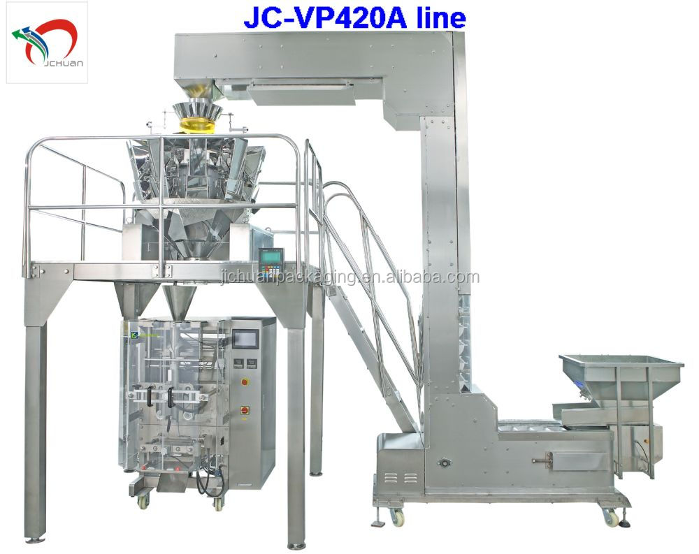 Vertical biscuit packing machine with 10 heads scale JC-VP420A