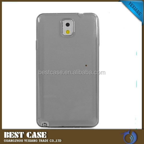 New arrival high quality clear tpu case for samsung galaxy note 3 back cover