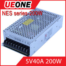 Hot sale 200w 5v 40a switching power supply CE factory price NES-200-5
