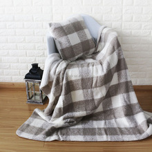 Sherpa Throw Adult Blanket Softextile Plain Double Face Blanket Pillow Bedding set