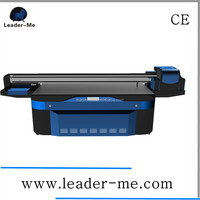 Large format 2.5m by 1.3m printing size, Multicolor china flatbed uv printer price