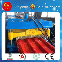 Concrete Glazing Machine , formed line for tiles roofing