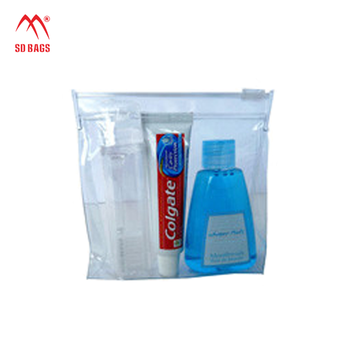 promotion gift clear zipper pvc cosmetic plastic packaging bag (SD-CB-070)