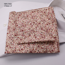 Hand Rolling Fancy Small Red Floral Cotton Handkerchiefs