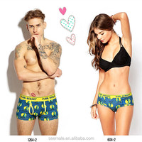 zhongshan Custom Fashion Design Couples Boxers Briefs Sexy Couples Underwear
