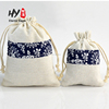 Small cotton jute gift jewelry package drawstring bag