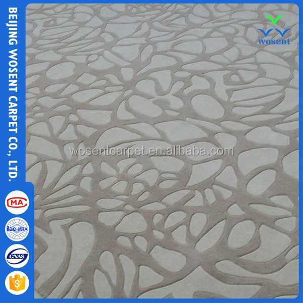 China supplier loop cut design tufted carpet silk and wool