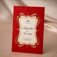red elegant Wedding Invitation Card laser cut greeting , birthday card CW1047