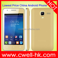 OEM cheap custom Android Phone 4 Inch Android 4.4 2G GSM Support WIFI Whatsapp Facebook