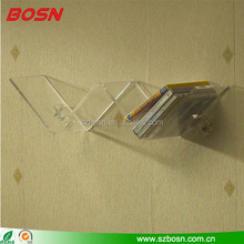 Wall mount W shape clear acrylic CD rack Perspex cd storage holder