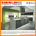 modern design white high gloss cabinets for small kitchen