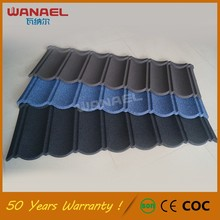 Classical Wanael low cost house construction material/stone coated metal roof tile/construction materials price list