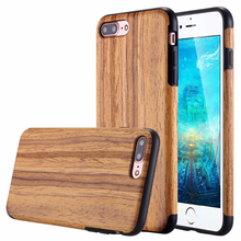 High quality phone case wood for iphone 7 plus wood nature luxury case