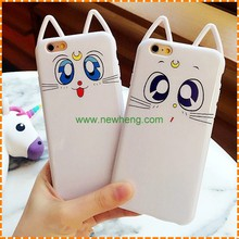 Hot selling cute cat soft silicone phone case for iphone 7 7 plus