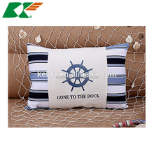 home decor, cotton and linen hold pillow Ocean series sofa cushion for leaning on of the Mediterranean massage chair