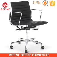 danish design black leather modern swivel executive office emes chair replica EA117 RF-S072