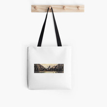 wonderful lake in peace free design canvas tote bag plain cotton tote bag