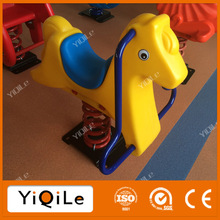 Outdoor kids plastic spring rocking horse