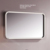 stainless steel touch screen bathroom mirror with led light with shelf