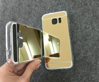 New Luxury Electroplate Soft TPU Case Protective Acrylic Mirror Back Cover For Samsung For Galaxy S7 S7edge