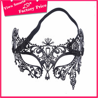 Alibaba high quality simple design party mini masquerade party mask black iron masks factory price